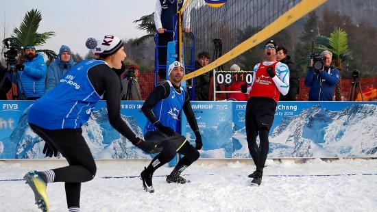 Wird Schneevolleyball olympisch?
