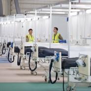 Angespannte Ruhe: Aufbau eines Notfallkrankenhauses für 4000 Patienten in London