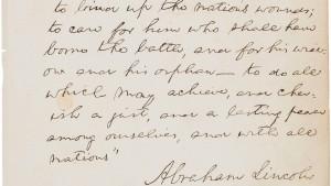 Lincoln-Manuskript für 2,2 Millionen Dollar versteigert