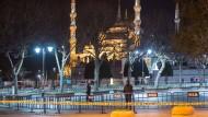 Tatort vor der Blauen Moschee in Istanbul
