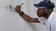 Künstler zeichnet Mexico City aus dem Gedächtnis