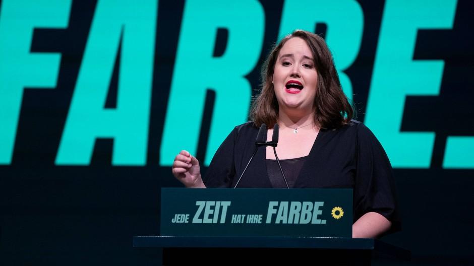 Ricarda Lang, stellvertretende Bundesvorsitzende der Grünen, beim Parteitag im November 2020