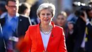 Die britische Premierministerin Theresa May am Donnerstag in Salzburg