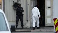 Die Polizei in Kongsberg am Morgen nach der Tat