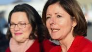 Wer wird demnächst oben stehen? Manche in der SPD wünschen sich wünschen sich Malu Dreyer (r.) als Nachfolgerin von Andrea Nahles.