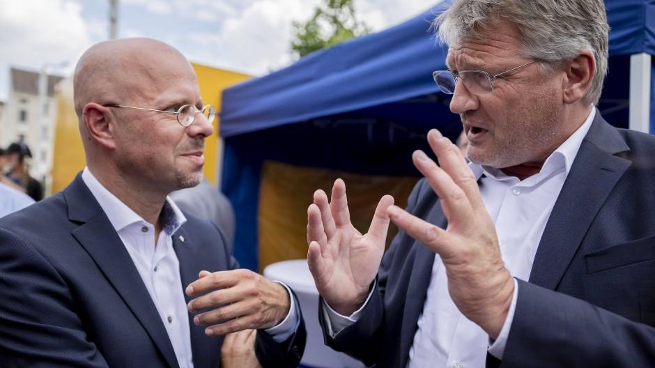 Andere Zeiten: Andreas Kalbitz und Jörg Meuthen im Juli 2019