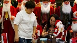 Geschäfte in China mit erheblichen Einbußen