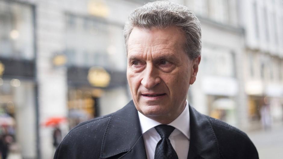 Will alles nicht so gemeint haben: EU-Kommissar Günther Oettinger