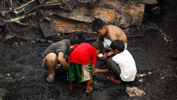 Asiens Arme sind  Opfer der Statistik