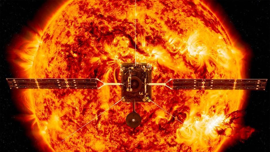 Mission mit komplexer Instrumentierung: Der Solar Orbiter vermisst nicht nur die Umgebung der Sonne, sondern hat auch verschiedene Kameras an Bord.