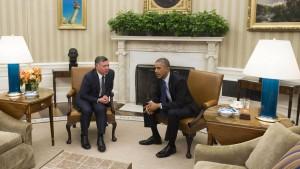 Obama berät mit Jordaniens König über Hinrichtungsvideo