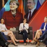 Sandra Maischberger mit Gästen ihrer Sendung