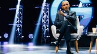 Obama spricht in Köln.