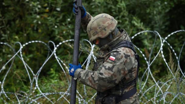 Polen macht die Grenze zu Belarus dicht