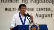"""Philippinens Präsident Duterte: """"Wenn ihr etwas Schlechtes über mich sagen könnt, kann ich zehn Dinge (gegen Euch) dagegen halten"""""""