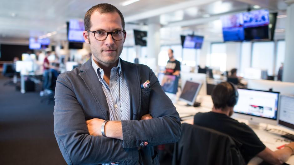 """Julian Reichelt, 2017 im Newsroom der """"Bild""""-Zeitung in Berlin."""
