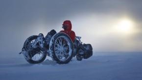 Schöne Strapaze: Die Britin Maria Leijerstam, der erste Mensch, der den Südpol mit einem Fahrrad erreichte