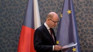 Tschechischer Ministerpräsident Sobotka kündigt Rücktritt an