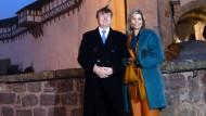Auf der Wartburg in Eisenach begann der Deutschland-Besuch von König Willem-Alexander und Königin Maxima.