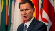Britischer Außenminister Jeremy Hunt