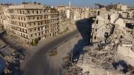 Drohnenvideos zeigen gewaltige Zerstörung Aleppos
