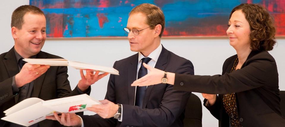 Rot Rot Grün Wählt Michael Müller Zum Bürgermeister In Berlin