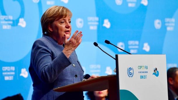 """Merkel erklärt Klimawandel zur """"Schicksalsfrage"""" für die Menschheit"""
