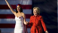 Prominente Unterstützung: Sängerin Katy Perry ist ein großer Fan von Hillary Clinton.