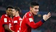 Der dreifache James: James Rodriguez bejubelt seinen dritten Treffer beim Spiel des FC Bayern gegen Mainz.