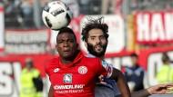 Zu schlecht abgeschirmt: 05-Stürmer Jhon Cordoba bleibt gegen Darmstadt ohne Tor