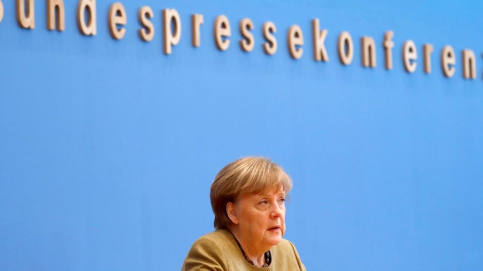 Jeden Tag macht niemand alles richtig: Angela Merkel in der Bundespressekonferenz