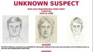 """Mit diesen Fahndungsfotos suchte die Polizei bis zuletzt nach dem """"Golden State Killer""""."""