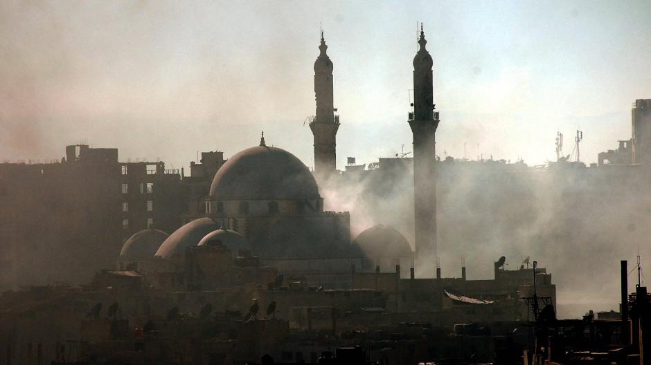 Kein Ort des Gebets mehr: Eine Moschee im Stadtteils Khalidiya in Homs