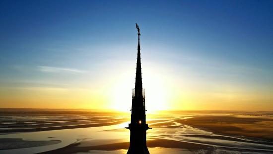 Faszinierende Drohnenbilder des Mont-Saint-Michel