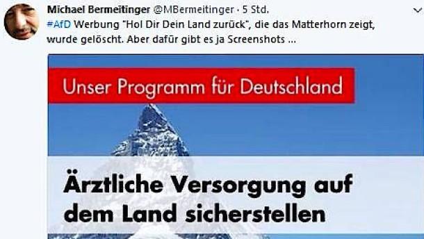 AfD versetzt Matterhorn nach Deutschland