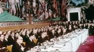 EU-Gründerväter unterschrieben 1957  leere Seiten