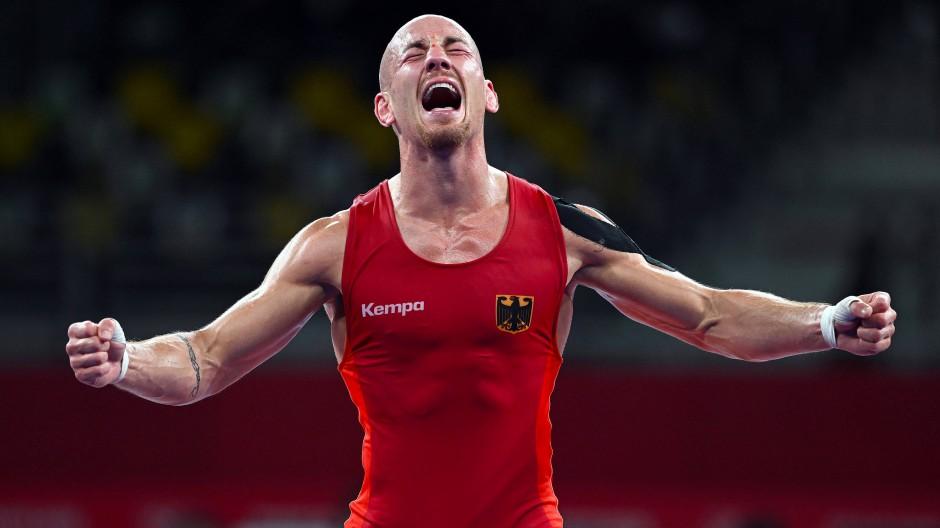 Glücklich über Bronze: Ringer Frank Stäbler