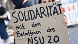 """""""NSU 2.0""""-Ermittlungen werden auch nach Festnahme fortgesetzt"""