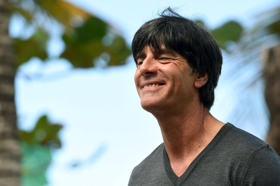 Joachim Löw, entspannter Bundestrainer 2014, siegesgewiss