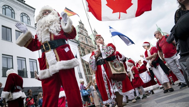 Weltkongress der Weihnachtsmänner