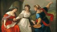 Um die Kunst der Entscheidung ging es schon in Angelika Kauffmanns Selbstbildnis am Scheideweg zwischen Musik und Malerei 1794.
