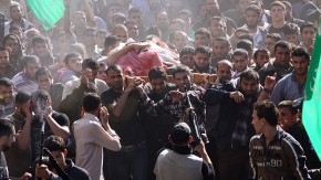 Thousands attend Hamas military commander's funeral