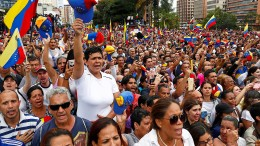 Massendemonstration in Venezuela