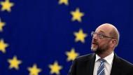 Bleibt er in Straßburg? Oder wechselt er nach Berlin – als Kanzlerkandidat der SPD? EU-Parlamentspräsident Martin Schulz