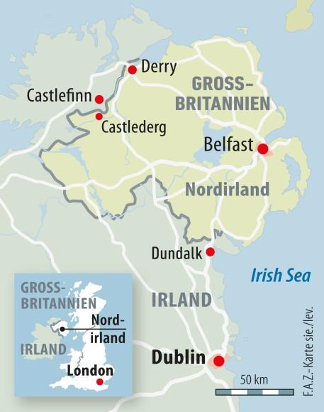 Irland Karte.Karte Irland Castlederg