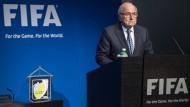 Joseph Blatter Anfang Juni bei der Pressekonferenz, auf der er seinen Rücktritt verkündete.