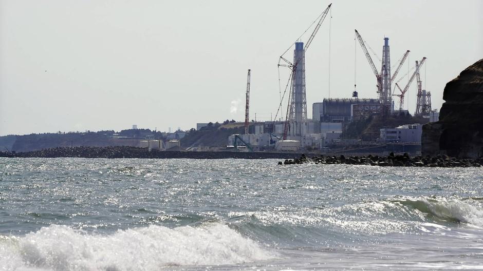 Die Atomkraftwerksruine Fukushima Daiichi an der japanischen Pazifikküste