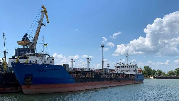Ukraine setzt russischen Tanker fest