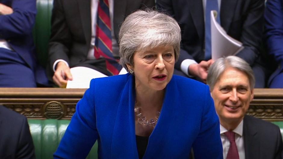Die britische Premierministerin Theresa May vergangene Woche im Unterhaus