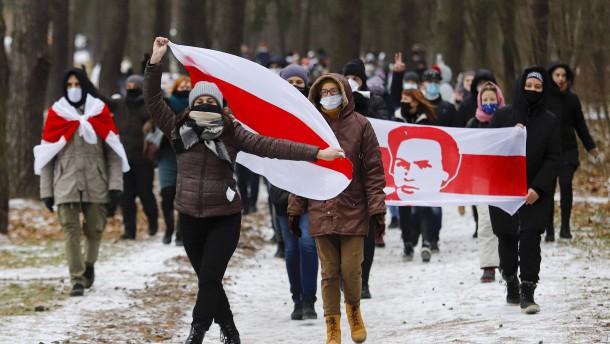 Festnahmen bei Protesten gegen Lukaschenka